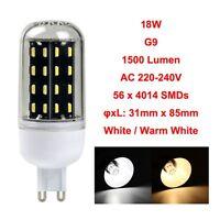 Maïs Ampoule 4014SMD E14 E27 B22 GU10 G9 LED 12/18/25/30/35W Clair 220V Lampe
