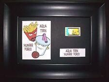 AQUA TEEN Framed Movie Film Cell Memorabilia Compliments poster dvd vhs