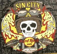 """Hard Rock Cafe Las Vegas 2019 """"Sin City"""" Bike Week Pin - Skeleton Biker!"""