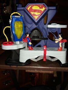 Superman Imaginext DC Super Friends Playset Toy Fisher Price 2013 w Wonder Woman
