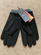 BNWT £35 M&S Black Leather Gloves Size Large Thermowarmth Christmas Gift Idea