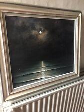 Peinture  Coucher De Soleil Sur La Mer.  Signée