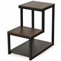 Topbuy 3-Tier End Table Side Table NightStand W/ Storage Shelf