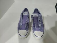 Converse All Star Womens Purple Canvas Sneakers Size 8 M