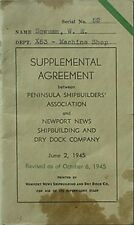 1945 PENINSULA SHIPBUILERS ASSN & NEWPORT NEWS S&D COMPANY UNION AGREEMENT