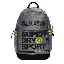 Superdry Neuf Homme Division Sac à Dos Sport Gris Chiné Jaune avec Étiquette
