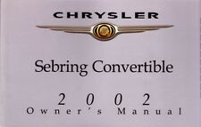 2002 Chrysler Sebring Convertible Owners Manual User Guide Operator Manual Fuses