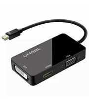 OMorc 3-in-1 Mini DisplayPort to DVI VGA HDMI TV Adapter Cable
