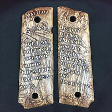1911 Full Size Government Wood Grips - Matthew 5:44
