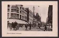Merseyside. Liverpool. Church Street. Trams. Policeman. Davidson Card c1910