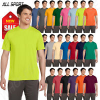 ALL Sport Men's Performance Dry-Fit Wicking 100% Polyester S-XL T-Shirt R-M1009