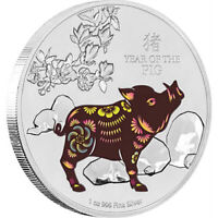 2019 Lunar Silver Coin - Year Of The Pig 1oz Silver Coin NZ