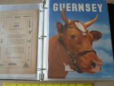 Old Scrapbook - Agriculture Farm Related - Cows - Advertising - Machinery