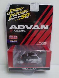 Rare Johnny Lightning Advan 1998 Honda Civic White Lightning Chase 1 Of 96