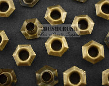 50pcs Antique Brass Hexagon Eyelets Scrapbooking Hole Punch Leather Craft E088