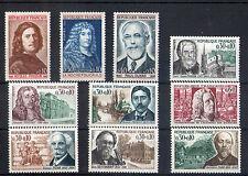 France 10 timbres non oblitérés gomme**  32  Célébrités