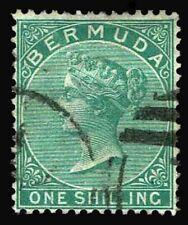 1865 Bermuda #6 Queen Victoria Watermark 1 - Used - VF - CV$67.50 (ESP#3088)
