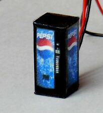 N Scale Lighted Pepsi Vending Machine 1/160 Illuminated