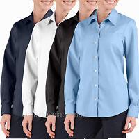Dickies Shirts Women Stretch Poplin Oxford Work Shirt Long Sleeve FL036 Colors