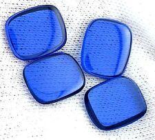 ONE 12mm x 10mm Flat Cushion Synthetic Blue Spinel Corundum Cab Cabochon Gem