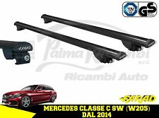 IRON110+BM04 BARS ROOF RACK FARAD BLACK MERCEDES C CLASS SW (W205) 2014>