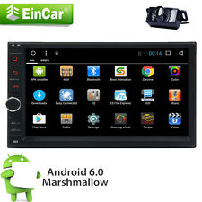 Android 6.0 Double Din Car DVD Stereo Radio GPS Wifi 3G OBD2 HD Bluetooth+CAMERA