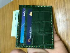Green Crocodile skin credit card holder Card Case (Make your request)
