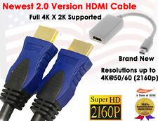 Super Resolution 2.0v 4K X 2K 3FT HDMI+ Mini DisplayPort|Thunderbolt to HDMI M/F
