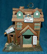 Cute Fishing Theme Birdhouse! Very Nice! Bait Shop! Collectible!