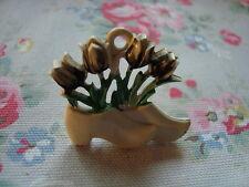 Vintage Clog / Tulips Push Pin~Bulletin Board/Craft Room/Kitchen/Office