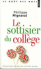 Livre Poche le sottisier du collège P. Mignaval book