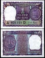 INDIA 1 RUPEES P 75C A K ROY UNC W//H