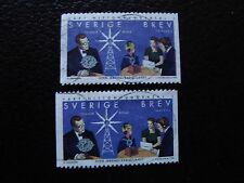 SUEDE - timbre yvert et tellier n° 2058 x2 obl (A29) stamp sweden (Z)