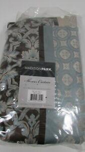 New Madison Park Jacquard Shower Curtain Brown Blue Cream MP70-3039