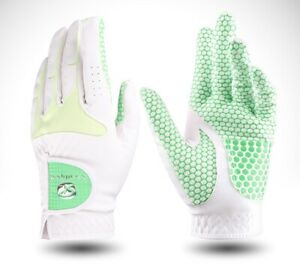 Women Ladies Sports Golf Gloves Pair Southport Honeycomb White Pink Green