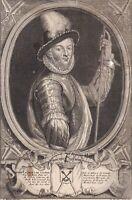 Portrait XVIIe Charles de Gondi Marquis Belle-Île Gouverneur Fougères De Retz