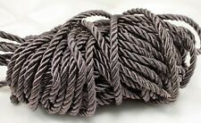 Twisted Drapery Cord - DARK BROWN - New - 16 yds.