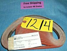 "3M 50 pcs. 777F Belts 1/2""x 24"" Grade P120 Made in U.S.A. Sanding Abrasive"