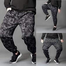 Hombre Camuflaje Pantalón de Chándal Pantalones Gimnasio Jogging SPORTS