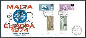 Malta 493-496 Europa 1974 mit ELU als FDC mit Schmuckumschlag