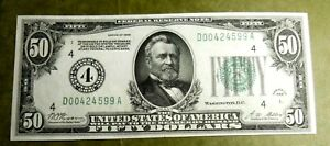 1928 $50 Federal Reserve Choice UNC. NEED TO SEE