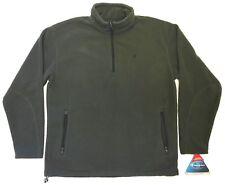 Champion Micro Fleece Sweatshirt with 1/4 zip / Olive Green - Men's L