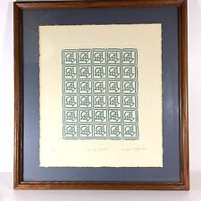Mary Rutherford Embossed Framed Quilt Print Country Basket Signed Numbered