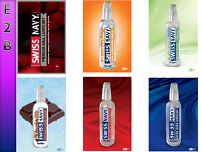 6 Sachets Swiss Navy Silicone Water Chocolate Natural Anal Warm Lubricant Lube