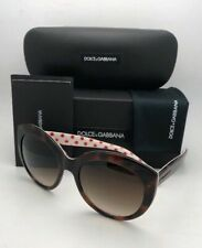 New DOLCE&GABBANA Sunglasses DG 4227 2872/13 Tortoise on White w/ Red Polka Dots