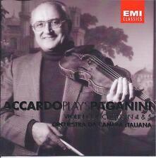 Salvatore Accardo plays Paganini Violin Concertos Nos. 4 & 5 (CD, May-2001, EMI)