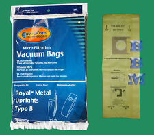 3 Type B 3671075001 Allergen Bags Metal Royal Upright Vacuums 673 673Z 7730Z
