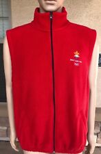 Vintage Salt Lake 2002 Olympics Full Zip Fleece Vest Jacket Q.I.Z. Jordan Large
