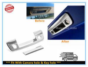 FOR 09-18 Dodge RAM 1500 2500 Chrome Tailgate Handle cover W/Camera hole+Keyhole