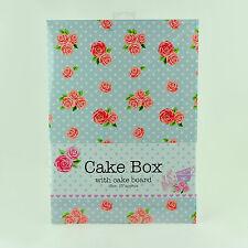 2.5x25.4cm Vintage Caja De Torta Tabla Boda Cumpleaños pasteles Plegable Plano